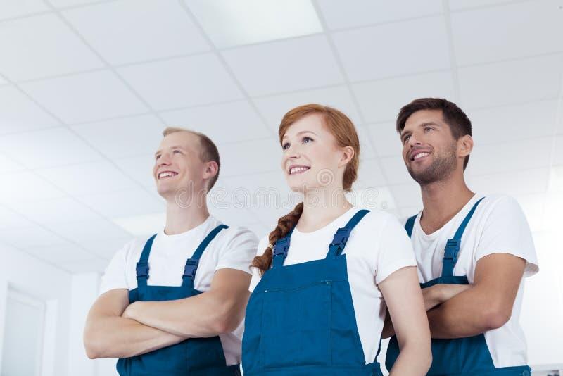 Czyści usługowi pracownicy obrazy stock