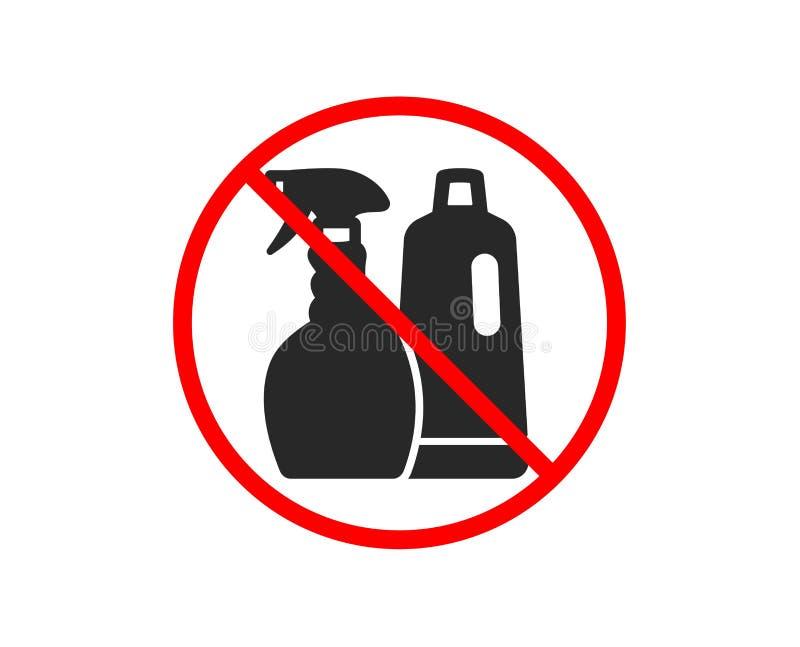 Czy?ci szampon ikona i ki?? cleanser wektor royalty ilustracja