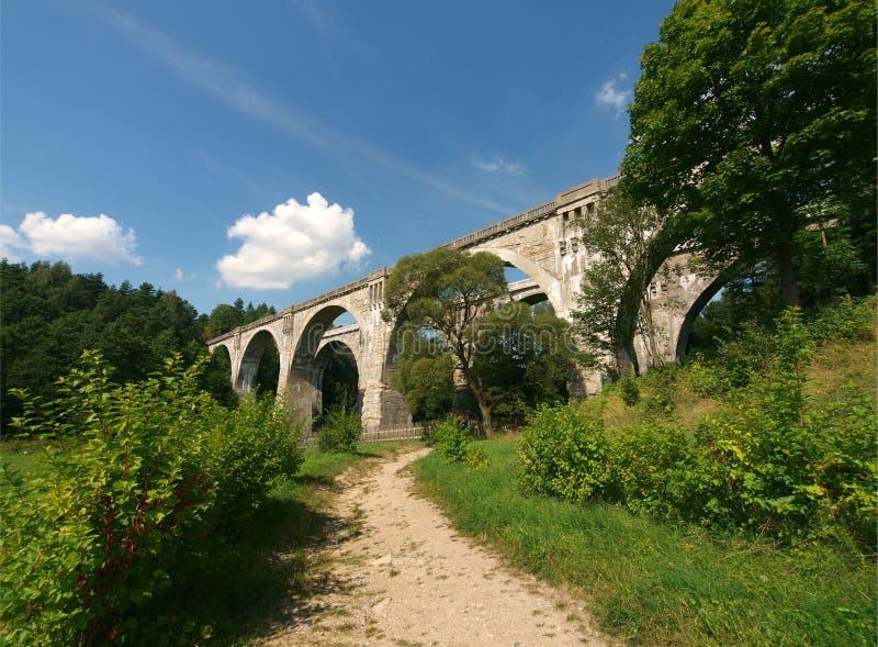 """Czyki van StaÅ """"van de aquaductenspoorweg royalty-vrije stock fotografie"""