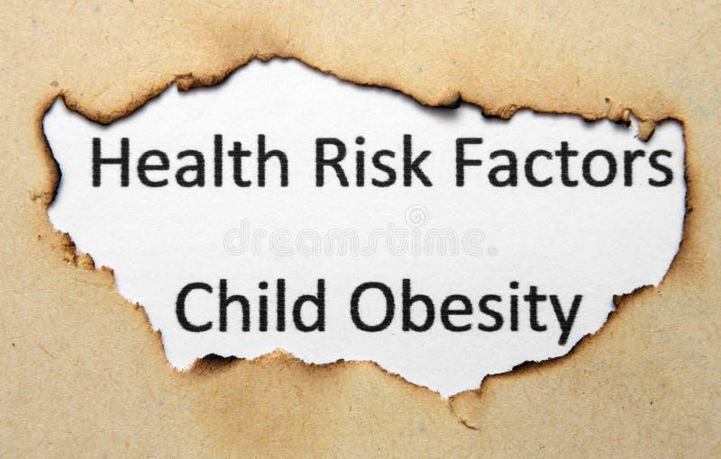 Czynniki ryzyka dla zdrowia - otyłość wśród dzieci zdjęcie royalty free
