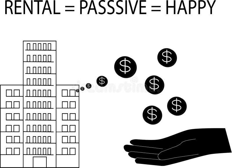 Czynsz Condo to bierny dochód dla koncepcji biznesowej - wektor ilustracji