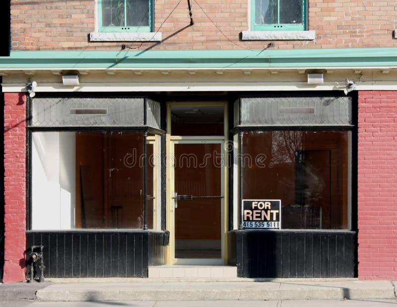 czynszowy sklep pusty fotografia stock