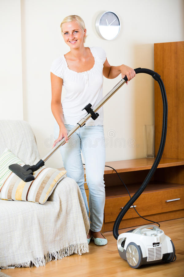 czysta gospodyni domowej próżnia zdjęcia stock