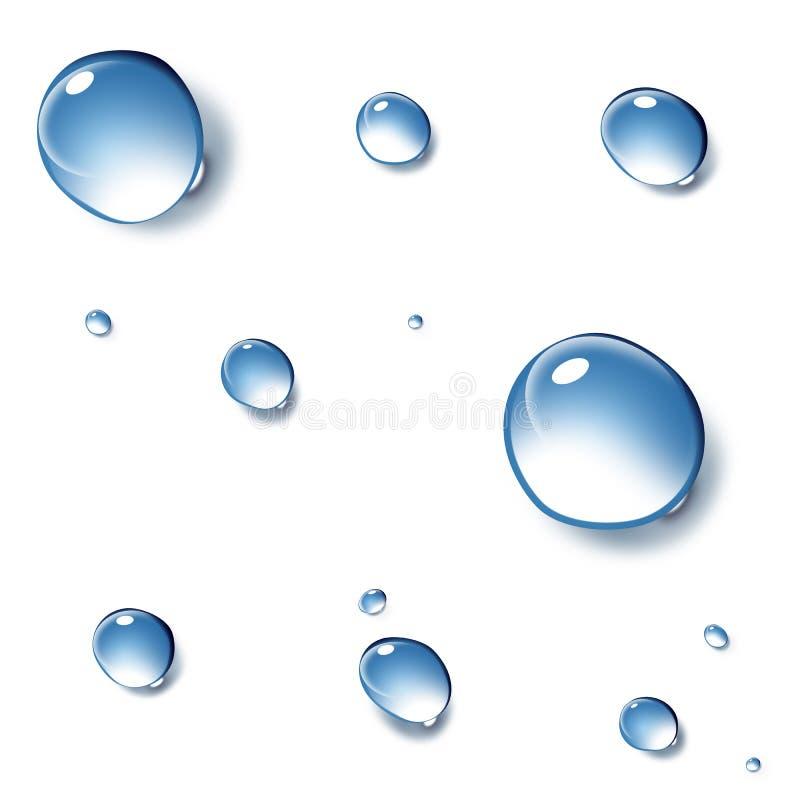 czysta kroplę wody ilustracja wektor