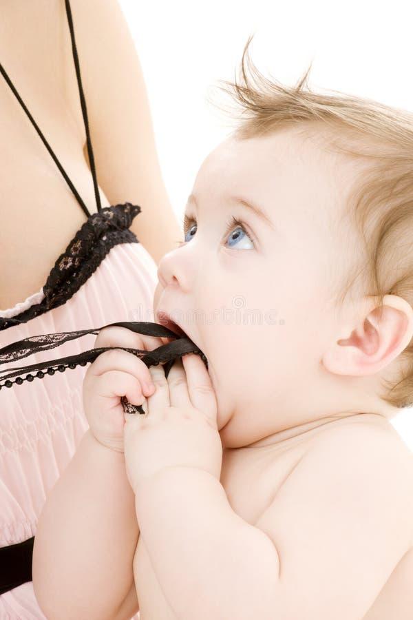 czysta matka chłopca rąk zdjęcie royalty free