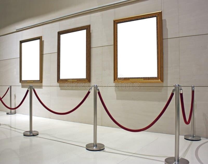 czyste płótno być obramowane muzeum. fotografia stock