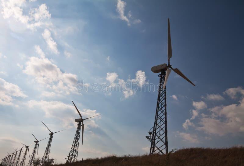 czystej energii środowiska wiatr zdjęcia royalty free