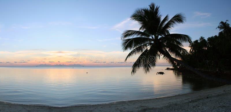 czystość zachód słońca na plaży obraz royalty free