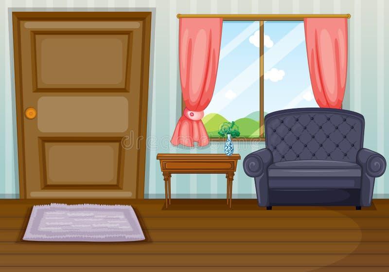 Czysty żywy pokój ilustracja wektor