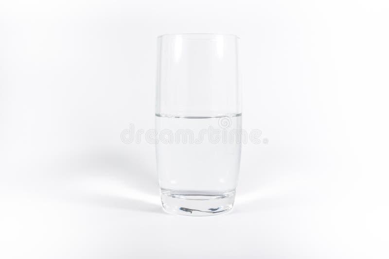 Czysty Czysty szkło Wodny Prosty Minimalistic Biały tło N obrazy stock