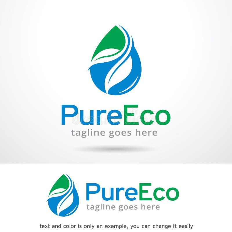 Czysty Eco loga szablonu projekta wektor ilustracja wektor