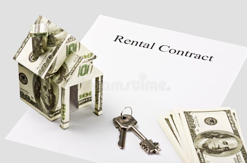 Czysty formy kontrakta wynajem zdjęcia royalty free