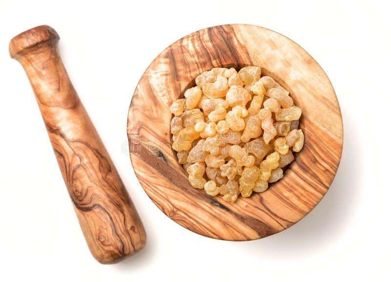 Czysty Organicznie Frankincense żywica odizolowywający na białym, odgórnym widoku, fotografia royalty free