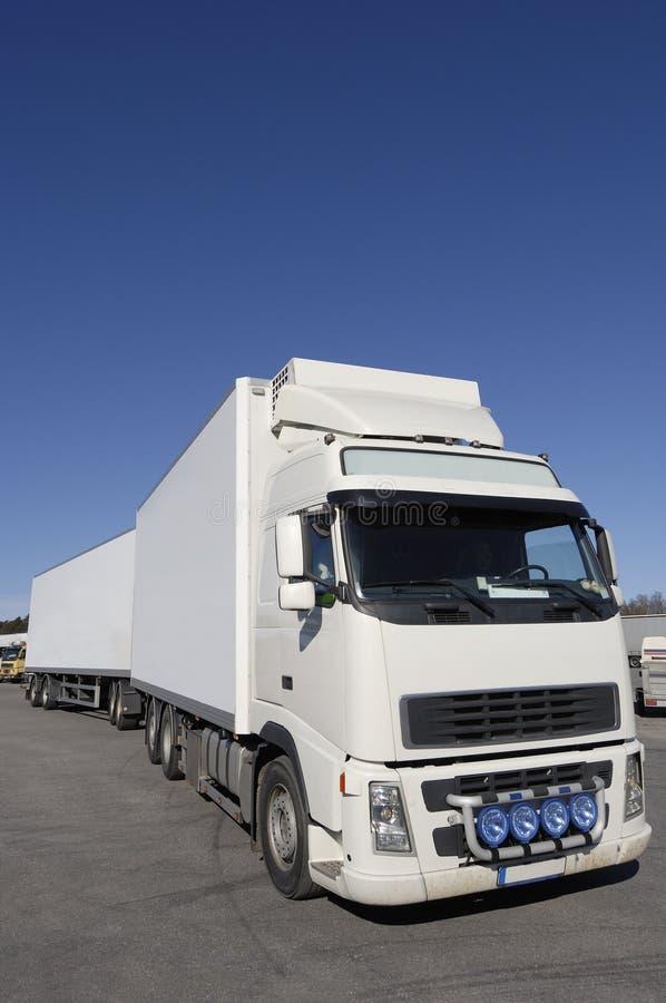 czysty profil ciężarówki white obrazy stock