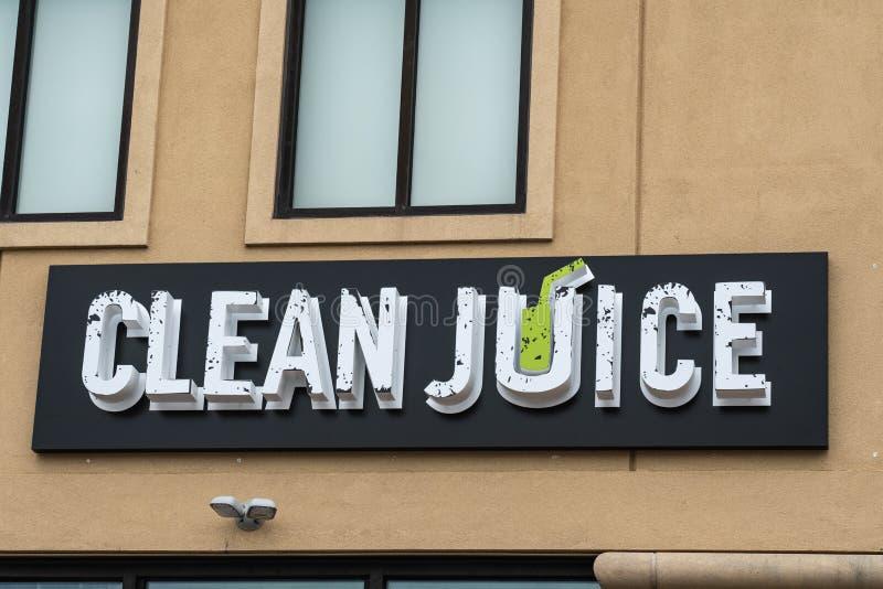 Czysty sok jest USDA poświadczającym organicznie soku barem zdjęcia royalty free