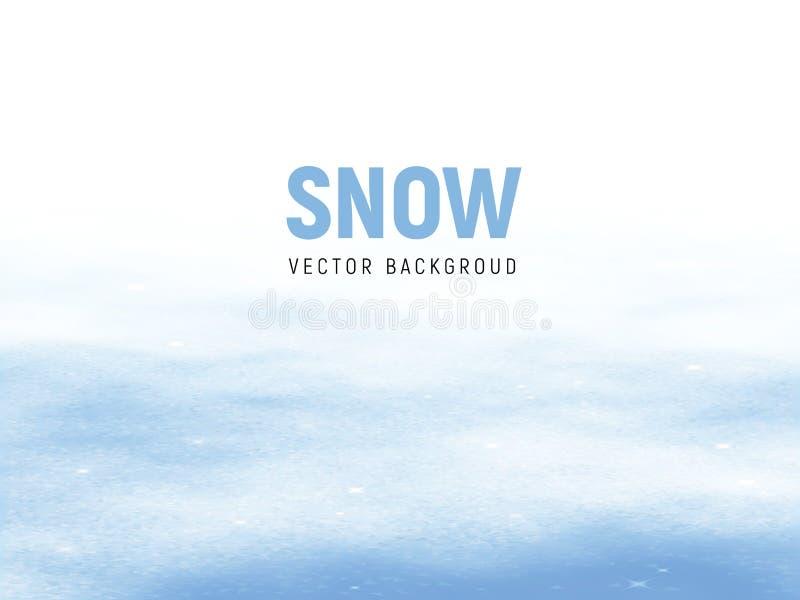 Czysty zimy tło z śnieżnymi dryfami royalty ilustracja