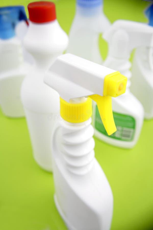 czyszczenie butelek zdjęcie royalty free