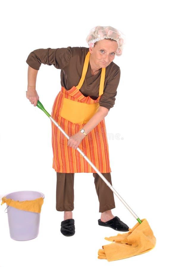 czyszczenie gospodyni domowa zdjęcia stock