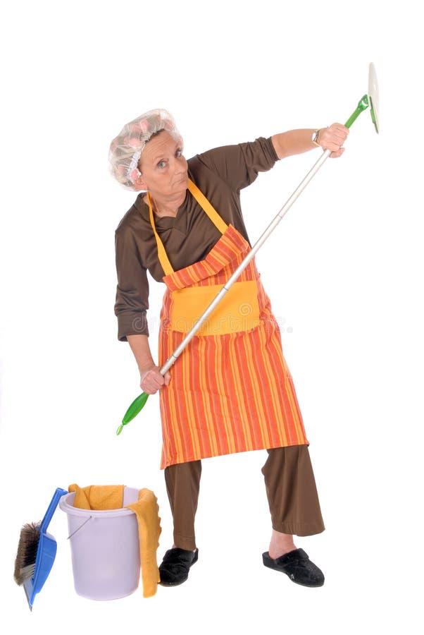 czyszczenie gospodyni domowa obraz royalty free