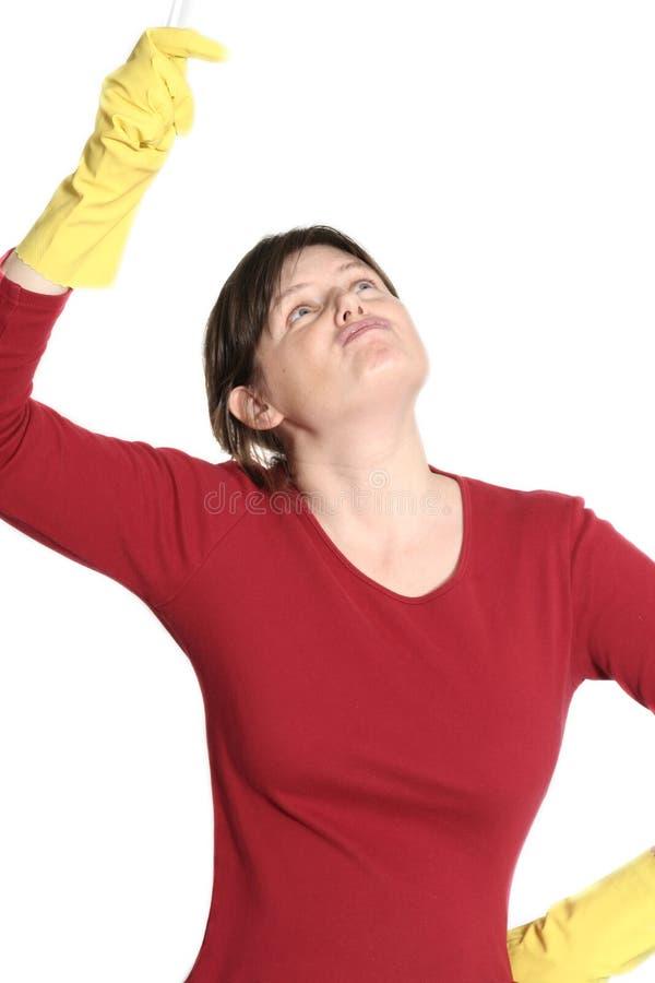 czyszczenie gospodyni domowa zdjęcie royalty free