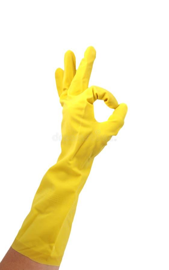 czyszczenie lateks rękawiczki zdjęcie stock