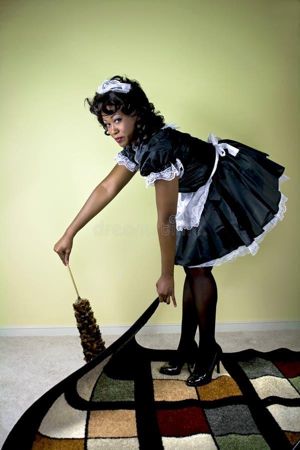 czyszczenie pokojówka zdjęcie royalty free