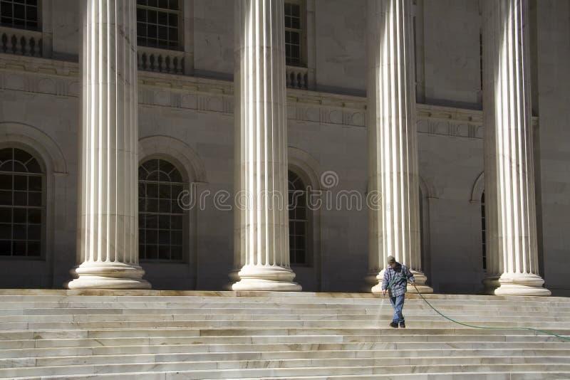 czyszczenie schodów szerszych fotografia royalty free