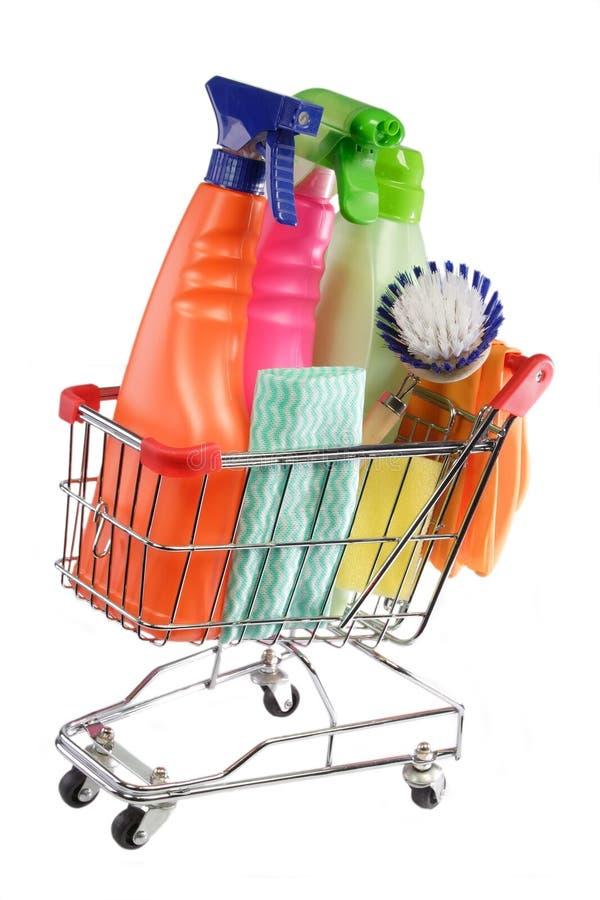 czyszczenie zakupy zapasów zdjęcia royalty free