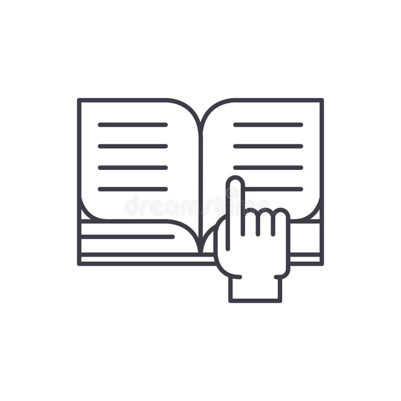 Czytać książki ikony kreskowy pojęcie Czytać książki wektorowa liniowa ilustracja, symbol, znak royalty ilustracja