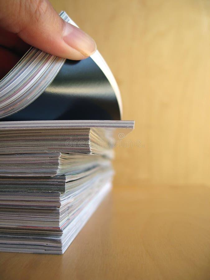 czytać materiałów zdjęcia stock