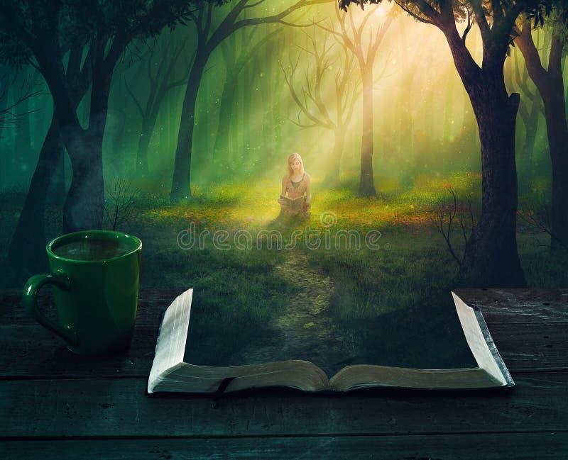 Czytać w lesie obrazy royalty free
