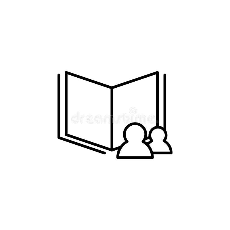 Czyta dane ikonę wektor royalty ilustracja