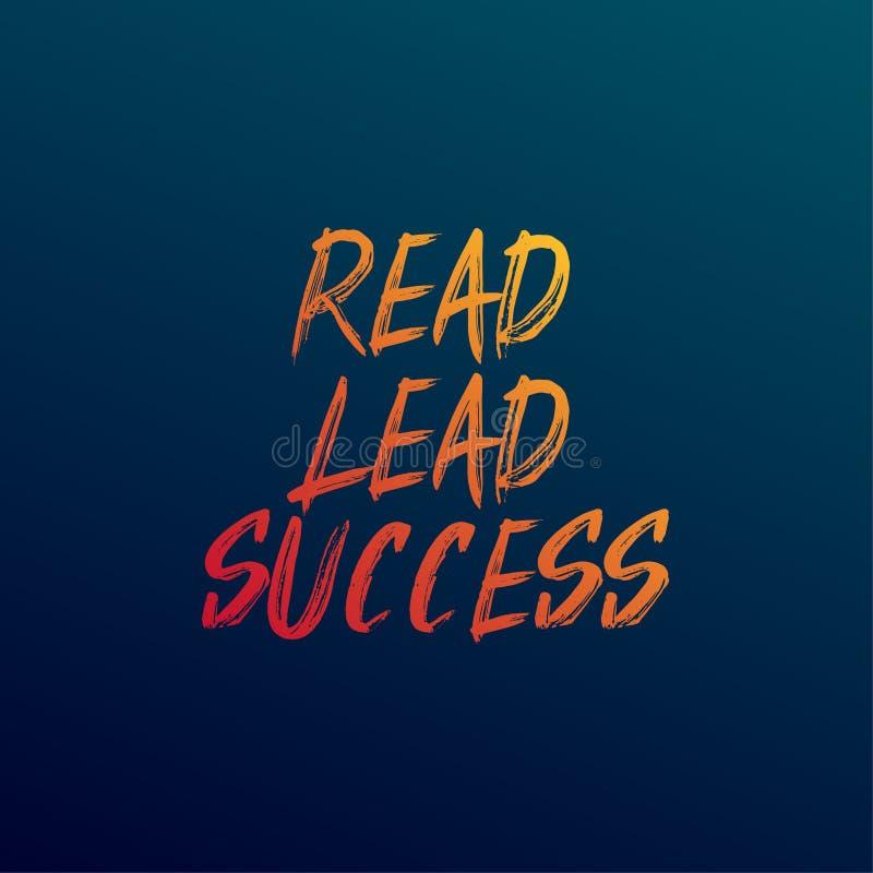 Czyta, prowadzenie, udaje się Inspiracyjna i motywacja wycena ilustracja wektor