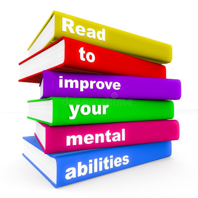 Czytający ulepszać umysłową zdolność ilustracja wektor