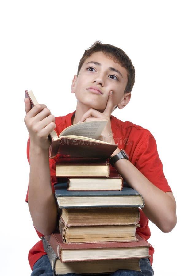 czytanie chłopca obrazy stock