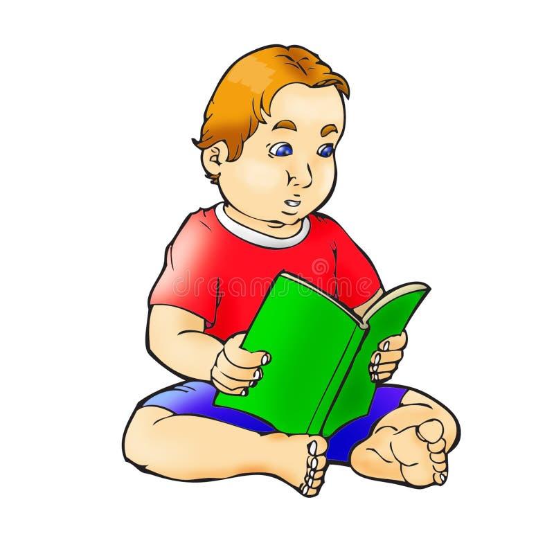 czytanie książki royalty ilustracja
