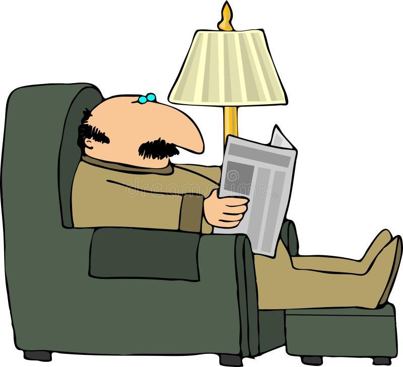 czytanie papieru ilustracji