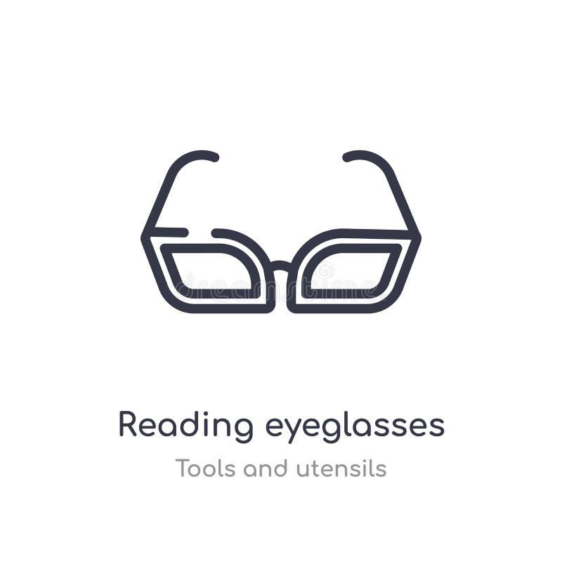 czytelnicza eyeglasses konturu ikona odosobniona kreskowa wektorowa ilustracja od narz?dzi i naczy? inkasowych editable cienieje  ilustracja wektor