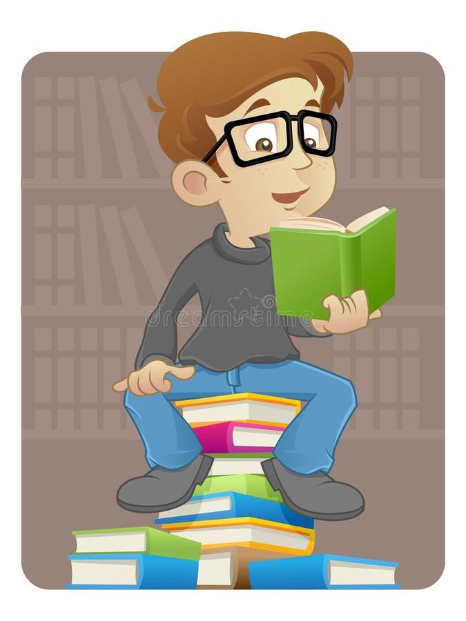 Czytelnicza książka ilustracja wektor