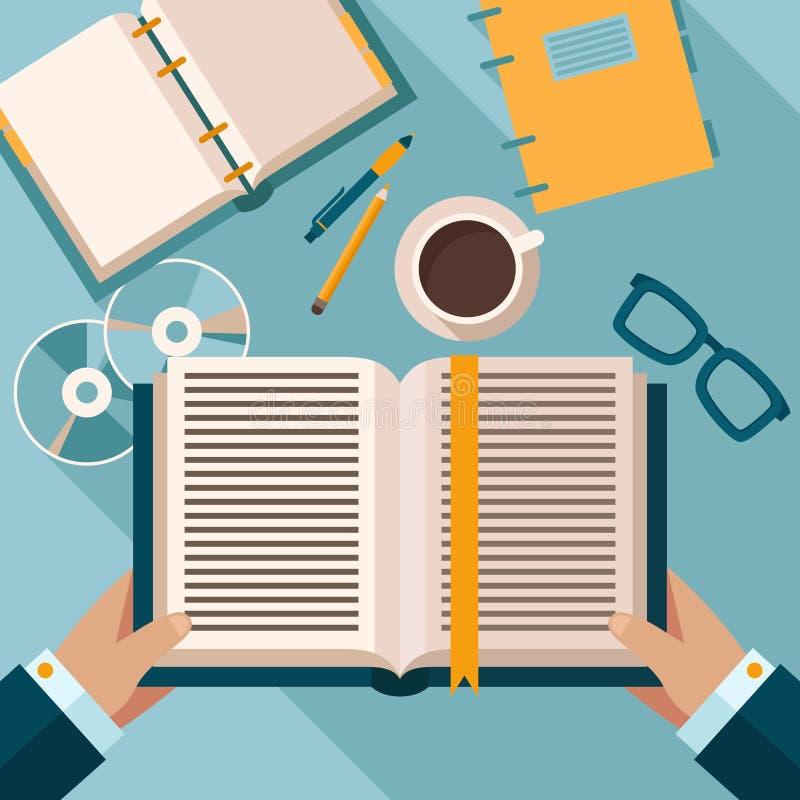 Czytelnicze książki na desktop ilustracji