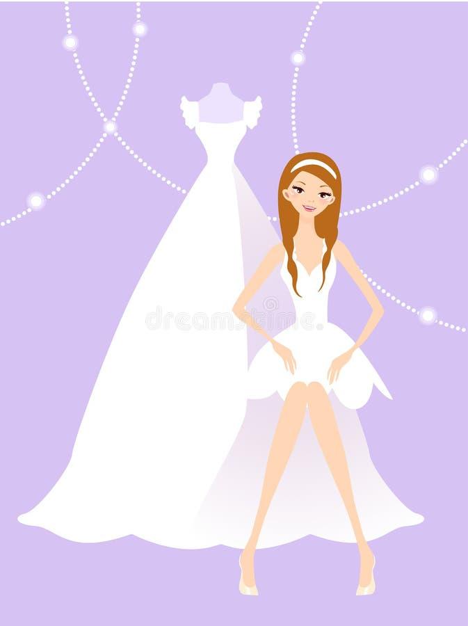 czytelniczy panna młoda ślub ilustracja wektor