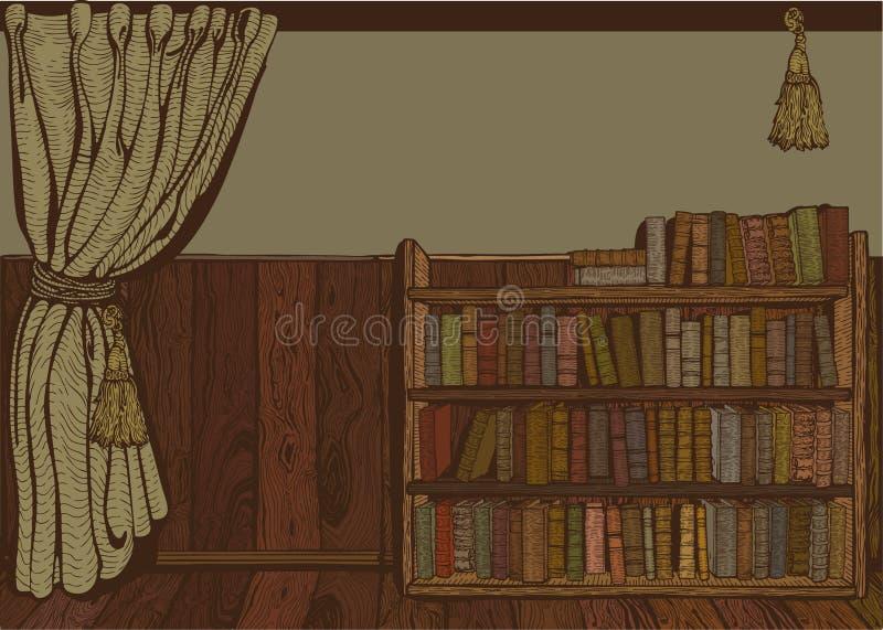 czytelniczy pokój ilustracja wektor