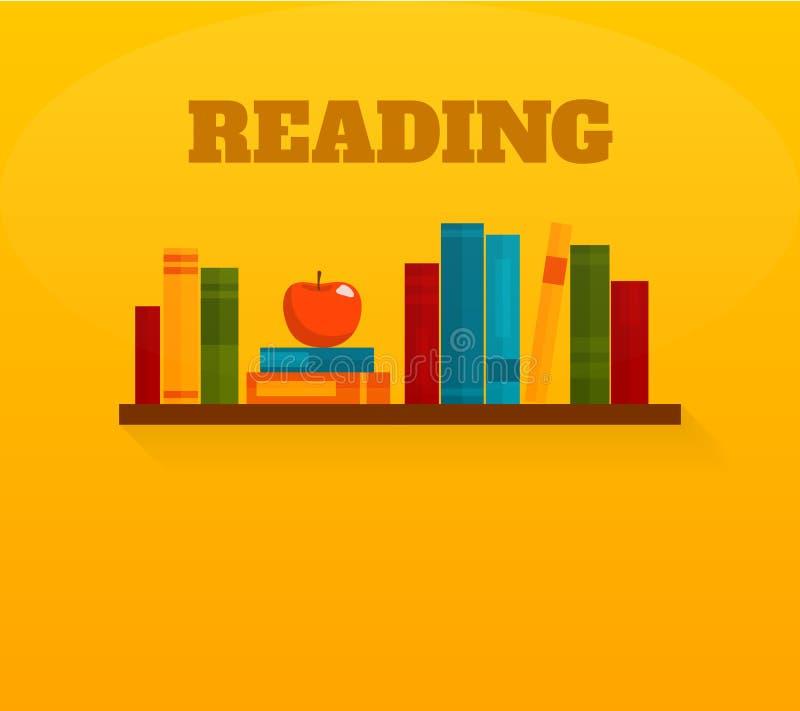 Czytelniczych książek mieszkania ikona ilustracja wektor