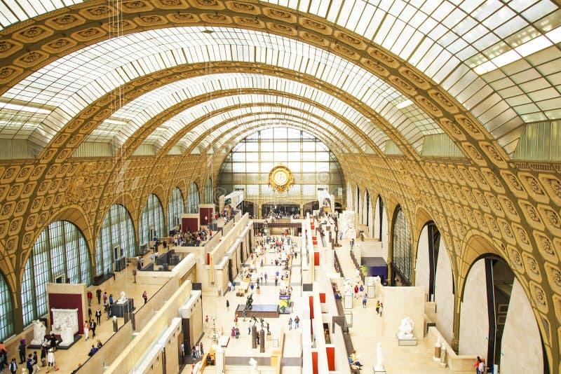 D'Orsay Innenraum des Museums stockfotografie