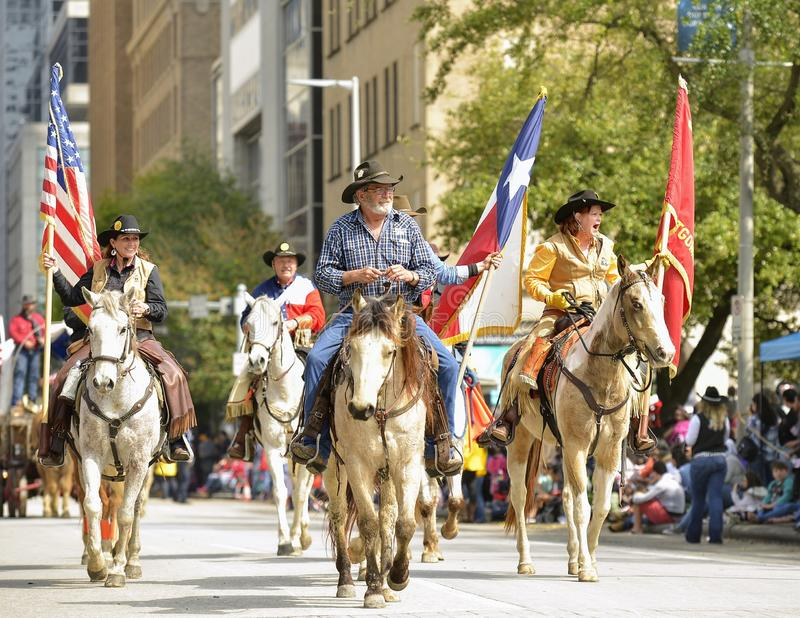 Défilé de Houston Livestock Show et de rodéo photographie stock libre de droits