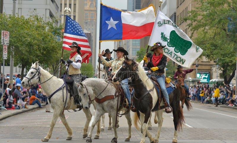 Défilé de rodéo de bétail de Houston photo stock