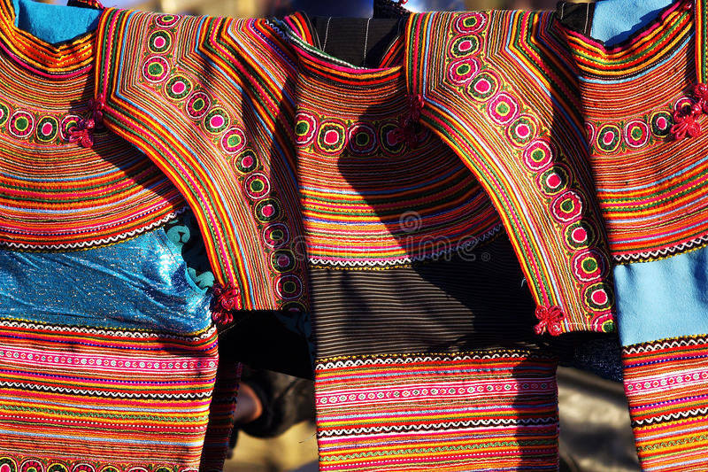 Détail etniczny kostium fotografia stock