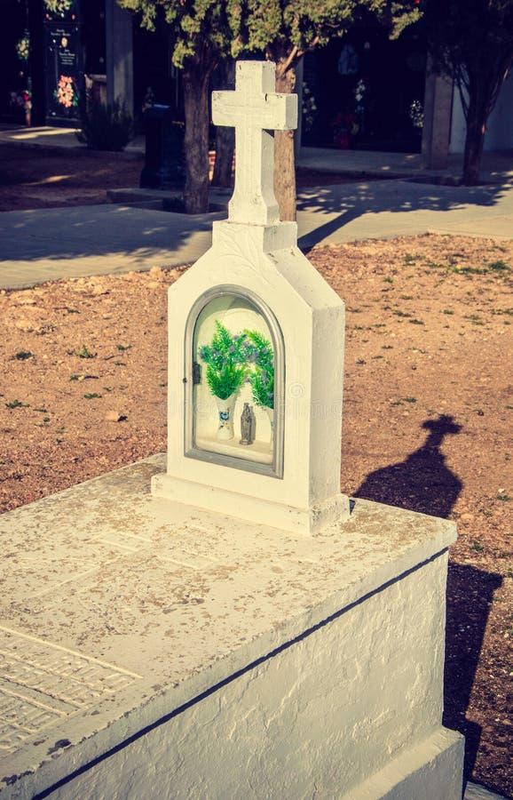 DÃa De Los Muertos - Biały grobowiec zdjęcia stock