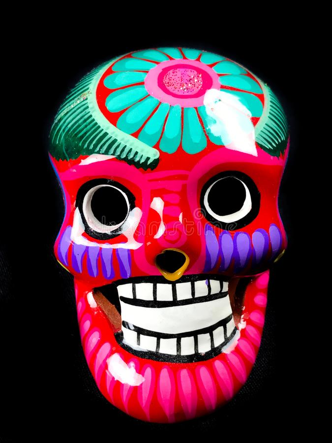 DÃa de Muertos Sugar Skull fotografia de stock royalty free