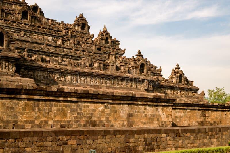 DÃa do EL do durante de Templo de Borobudur, Yogyakarta, Java, Indonésia foto de stock royalty free